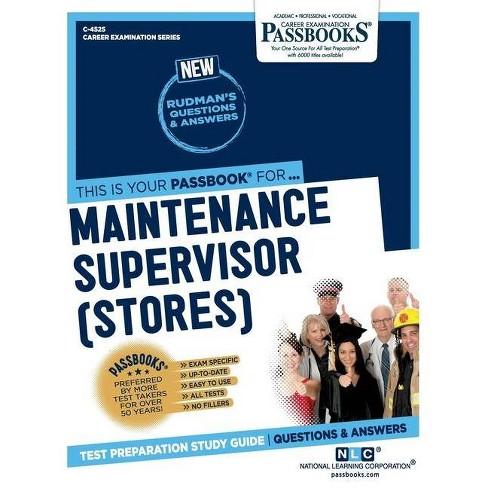 Maintenance Supervisor (Stores) - by  National Learning Corporation (Paperback) - image 1 of 1