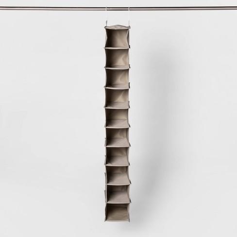 10 Shelf Hanging Shoe Storage Organizer Gray - Room Essentials™ - image 1 of 4