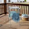 Household Essentials Extendable Folding Drying Rack with Shelf - image 4 of 4