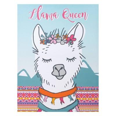 Trend Lab Unframed Wall Canvas Llama Queen