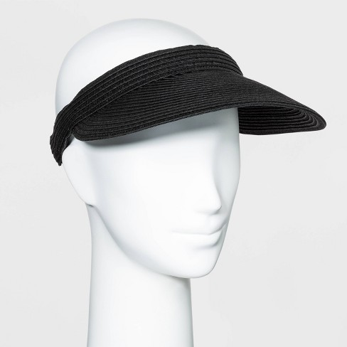 Women's Straw Visor Hat - A New Day™ - image 1 of 2