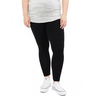 Motherhood Maternity | Plus Size Basic Secret Fit Belly Maternity Leggings