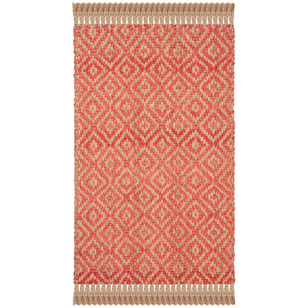 8'X10' Geometric Woven Area Rug Fuchsia (Pink) - Safavieh