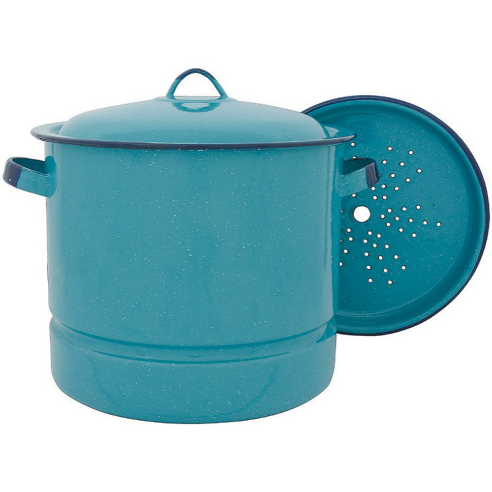 Image of Cinsa 15qt Steamer Pot Turquoise