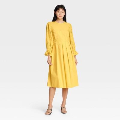 Women's Balloon Long Sleeve A-Line Dress - Who What Wear™