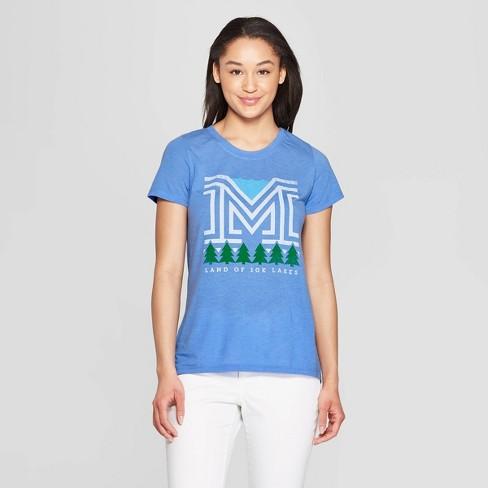 Women's Short Sleeve Scoop Neck Summer Nights T-Shirt - Awake Blue - image 1 of 2