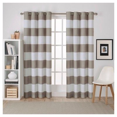 Surfside Cotton Cabana Stripe Window Curtain Panel Pair - Exclusive Home™