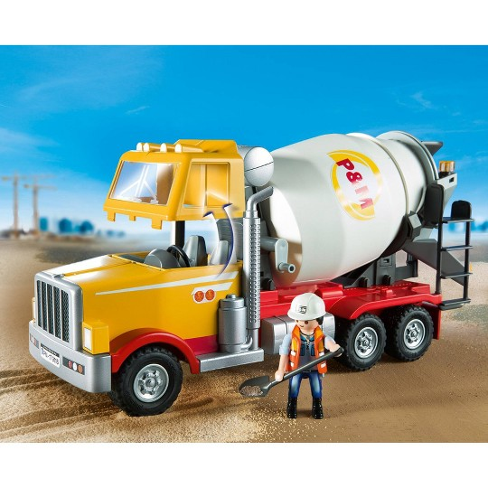Playmobil Cement Truck, mini figures image number null