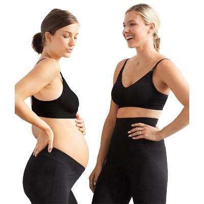 Motherhood Maternity | 2-Pack Seamless Clip Down Maternity & Nursing Bra- Black