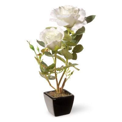 "12.5"" White Rose Flower - National Tree Company"