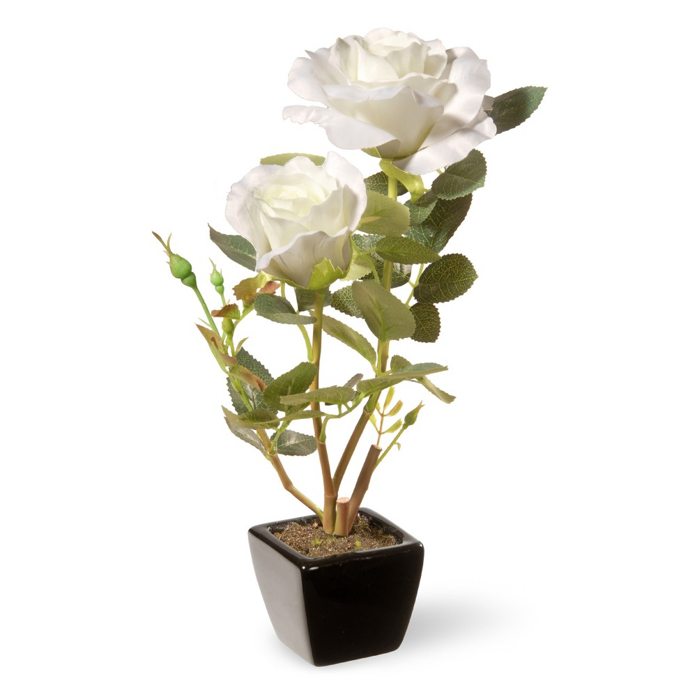 "Image of ""12.5"""" White Rose Flower - National Tree Company"""