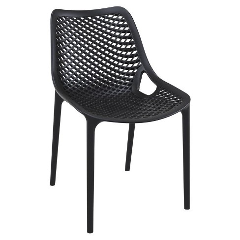 Superb Air Outdoor Patio Dining Chair In Black Set Of 2 Compamia Gmtry Best Dining Table And Chair Ideas Images Gmtryco