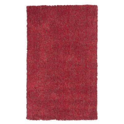 """Red Solid Woven Accent Rug 27""""x45"""" - KAS Rugs"""