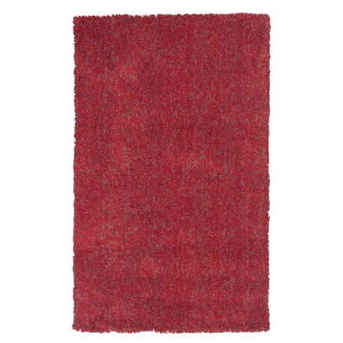 Bliss Red Heather Shag Woven Rug - KAS - image 1 of 1