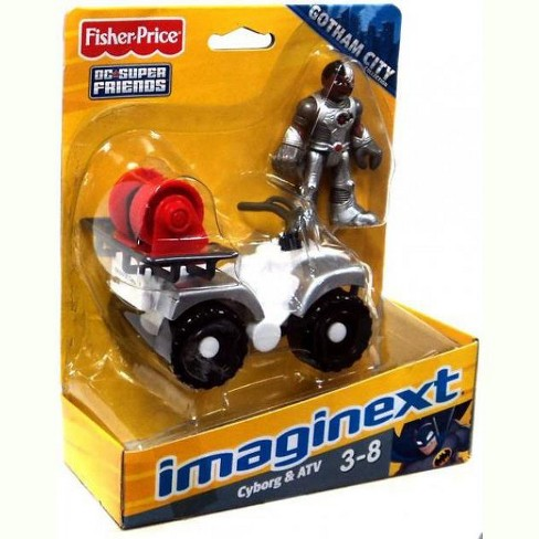 Fisher Price DC Super Friends Gotham City Imaginext Cyborg and ATV 3-Inch Figure Set - image 1 of 2