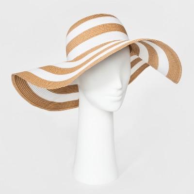 Women's Floppy Hat - A New Day™ Tan/White