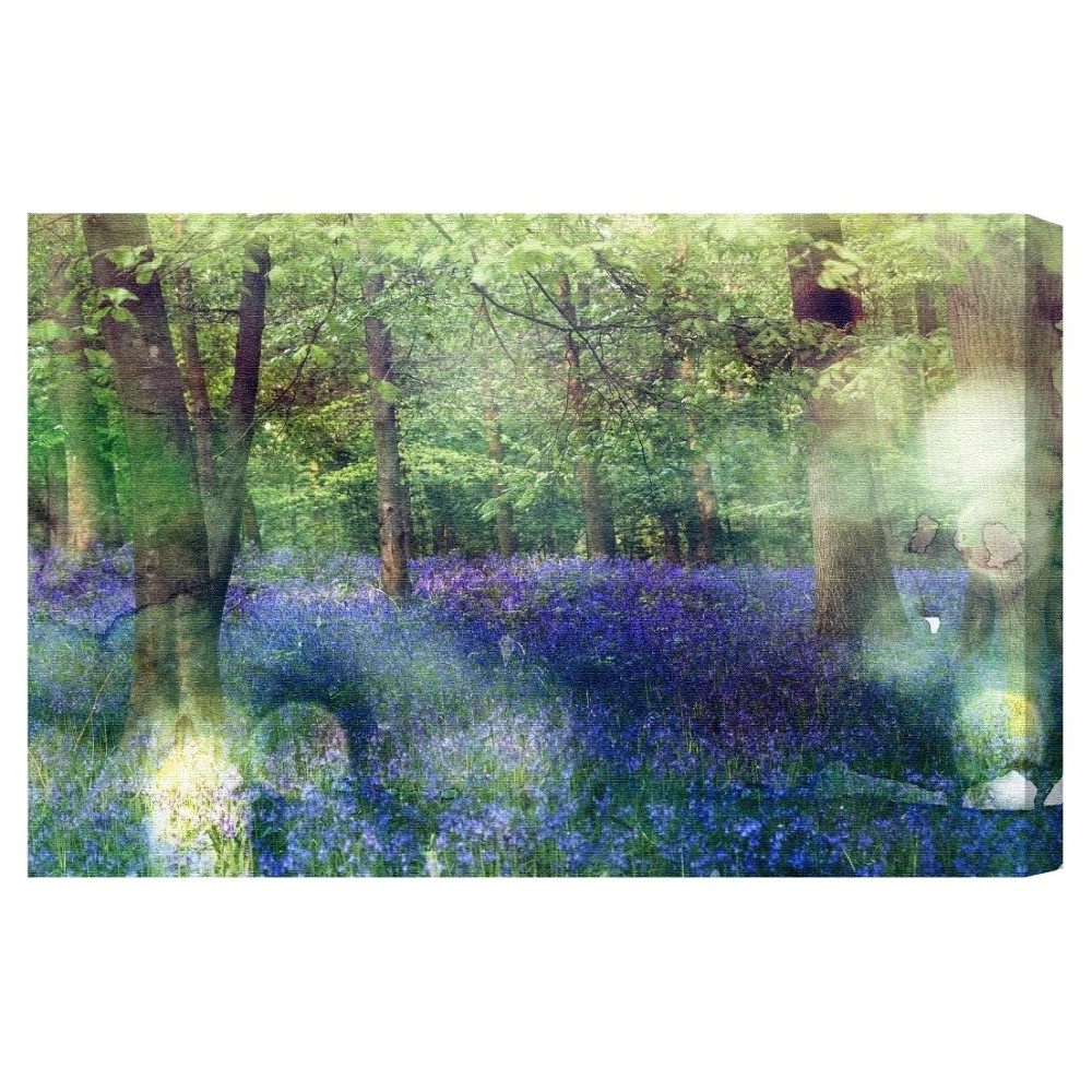 "Image of ""Oliver Gal Unframed Wall """"Rich Bluebell"""" Canvas Art (24x16), Multi-Colored"""