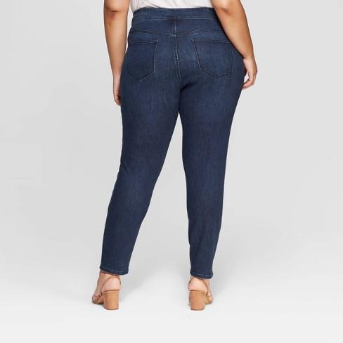 0d64078a91c3f Women s Plus Size Pull On Jegging - Ava   Viv™ Dark Wash   Target