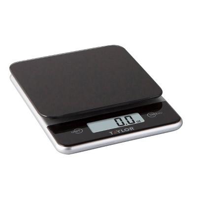 Taylor Digital 11lb Glass Top Food Scale Black