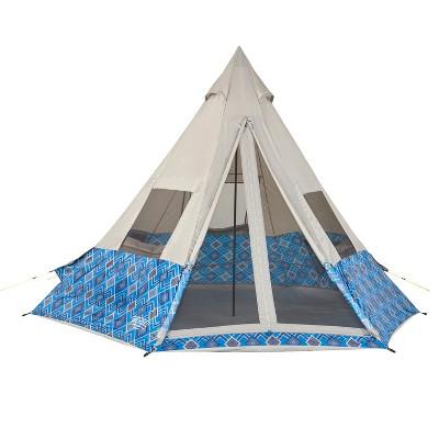 Wenzel Tribute Shenanigan 5 Person Tent - Blue Geo Print