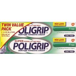 Poligrip Free Denture Adhesive Cream - 2ct/2.24oz