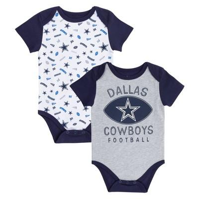 NFL Dallas Cowboys Baby Boys' Jaymes Bodysuit Set 2pk - 6M