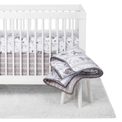 Trend Lab Waverly Baby 5pc Crib Bedding Set Congo Line - Gray