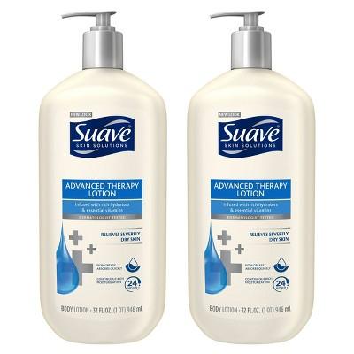 Suave Advanced Therapy Body Lotion - 2pk/32 fl oz