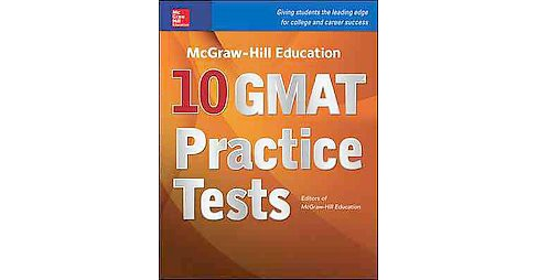 Mcgraw-hill Education 10 Gmat Practice Tests (Paperback) - image 1 of 1