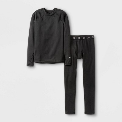 Boys' 2pk Thermal Set Underwear - All in Motion™ Black