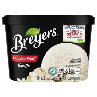 Breyers Lactose Free Vanilla Ice Cream - 48oz
