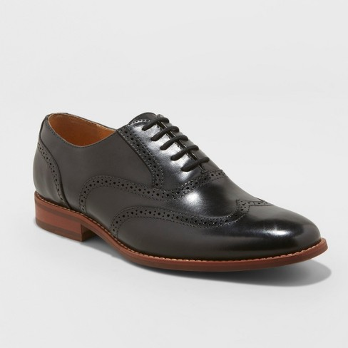 6aafe77334d Men s Pierce Leather Oxford Brogue Dress Shoes - Goodfellow   Co™ Black