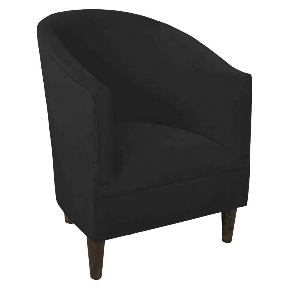 Skyline Custom Upholstered Tub Chair - Skyline Furniture, Velvet Black