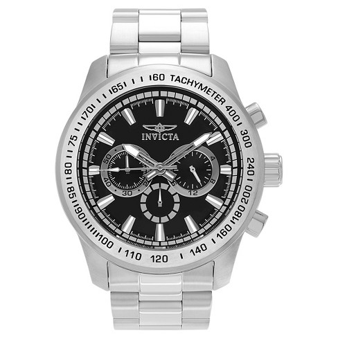 Men's Invicta 21793 Speedway Quartz Chronograph Black Dial Link Watch - Silver - image 1 of 3