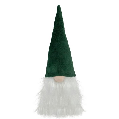Northlight 8-Inch Dark Green and White Gnome Head Christmas Decoration