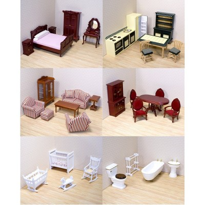 Cheap Wooden Dollhouse Furniture Barbie Melissa Doug Classic Victorian Wooden And Upholstered Dollhouse Furniture 35pc Target Highly Caffeinated Melissa Doug Classic Victorian Wooden And Upholstered Dollhouse