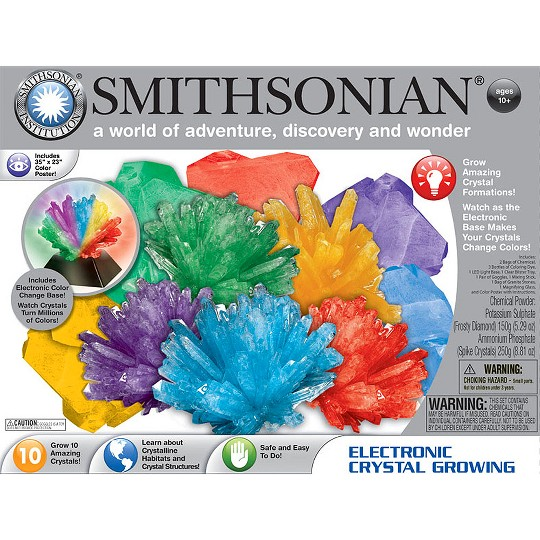 Smithsonian Electronic Crystal Growing Kit image number null