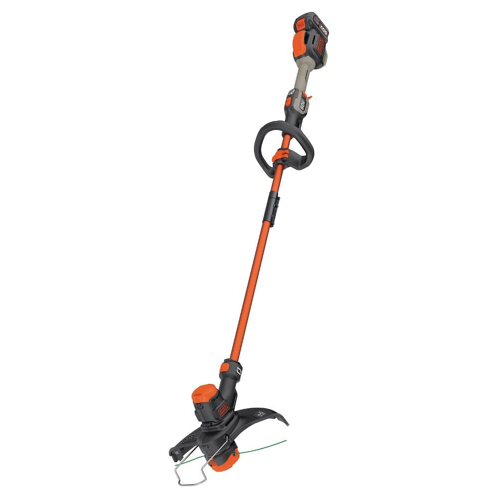 Image of Black+decker 60V Max Lithium 13 String Trimmer - Black, Black/Orange