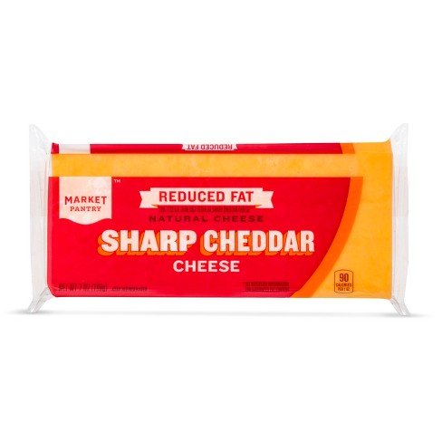 Reduced Fat Sharp Cheddar Cheese - 8oz - Market Pantry™ - image 1 of 1
