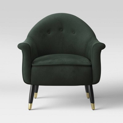 Laila Accent Chair Velvet Green - Project 62™