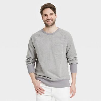 Men's Regular Fit Raglan Crew Neck Sweatshirt - Goodfellow & Co™
