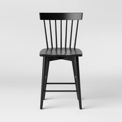 Windsor Counter Height Barstool Hardwood Black - Threshold™