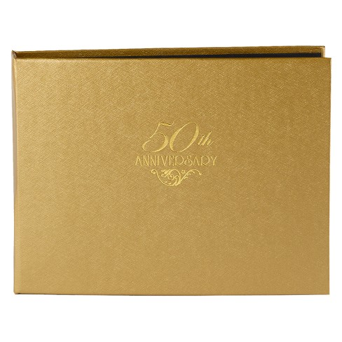 50th Anniversary Guest Book - Gold - image 1 of 1