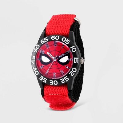 Kids' Marvel Spider-Man Plastic Time Teacher Watch - Red