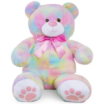 Best Choice Products 38in Giant Soft Plush Teddy Bear Stuffed Animal Toy w/ Bow TieFootprints