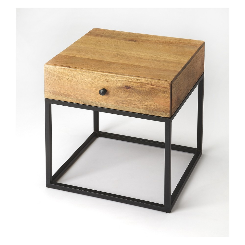 Butler Specialty Brixton Iron And Wood End Table Industrial Chic