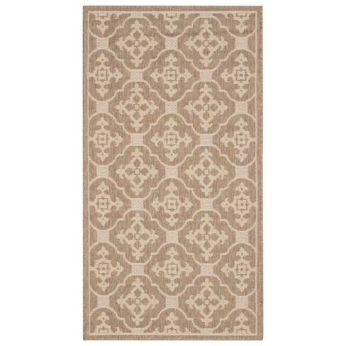 Coventry Patio Rug - Brown / Creme - Safavieh® - image 1 of 1
