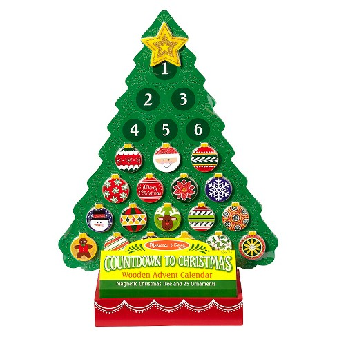 melissa doug countdown to christmas wooden advent calendar magnetic tree 25 magnets target - Countdown Till Christmas Decoration