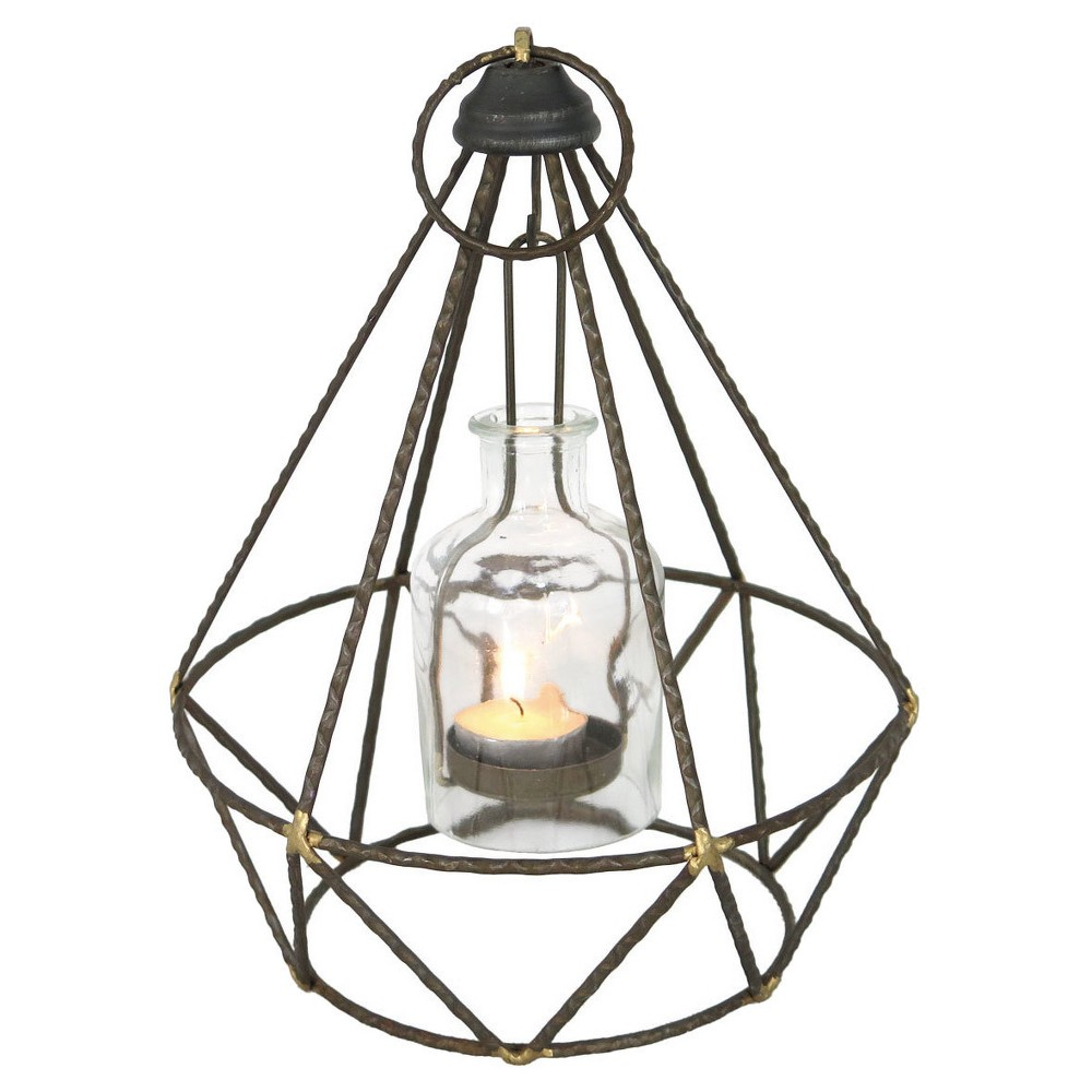 Single Candle Holder Foreside Home&Garden - Brushed Nickel