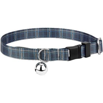 Country Brook Petz® Navy Plaid Cat Collar